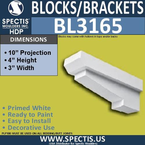 "BL3165 Eave Block 3""W x 4""H x 10""P"