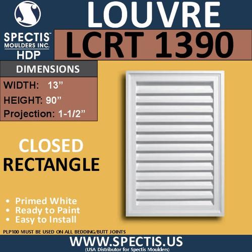 LCRT1390 Rectangle Gable Louver Vent - Closed - 13 x 90