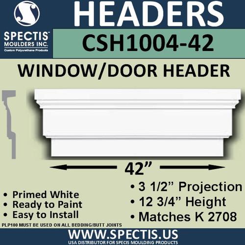 """CSH1004-42 Crosshead for Window/Door 3.25""""P x 12.75""""H x 42""""W"""
