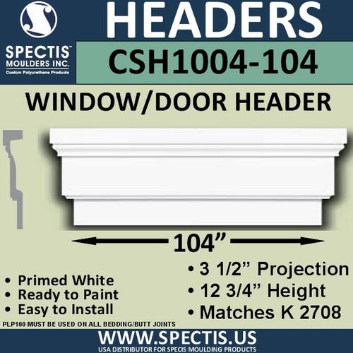 """CSH1004-104 Crosshead for Window/Door 3.25""""P x 12.75""""H x 104""""W"""
