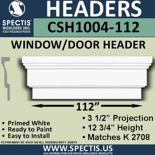 """CSH1004-112 Crosshead for Window/Door 3.25""""P x 12.75""""H x 112""""W"""
