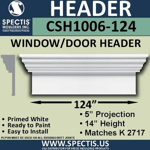 """CSH1006-124 Crosshead for Window/Door 5""""P x 14""""H x 124""""W"""