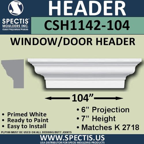 """CSH1142-104 Crosshead for Window/Door 6""""P x 7""""H x 104""""W"""