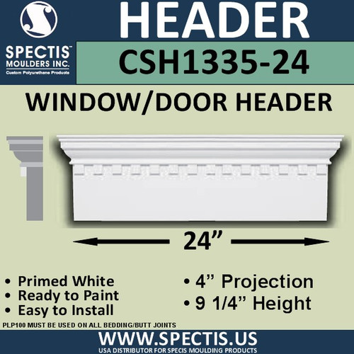 "CSH1335-24 Crosshead for Window/Door 4""P x 9.25""H x 24""W"