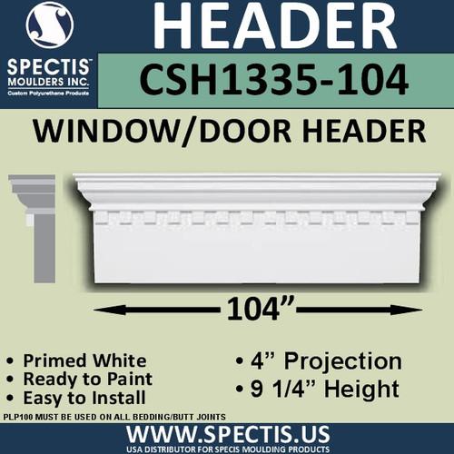 """CSH1335-104 Crosshead for Window/Door 4""""P x 9.25""""H x 104""""W"""