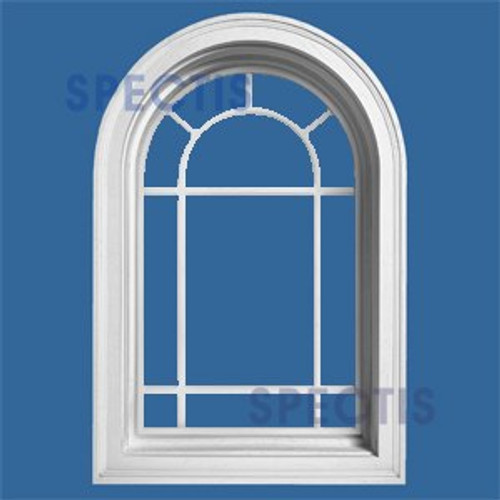 ARCH2031QG Arch Top Queen Ann Decorative Arch Window