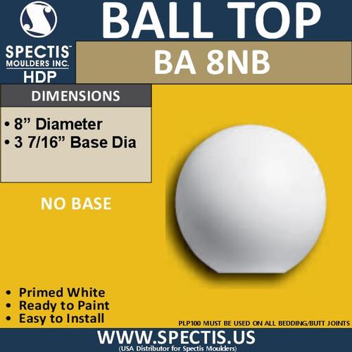 "BA8NB Urethane Ball with No Base 8"" Wide"
