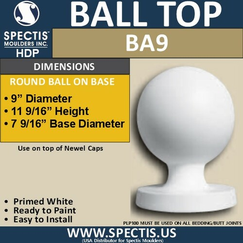 "BA9 Urethane Ball with Base 9"" Wide"