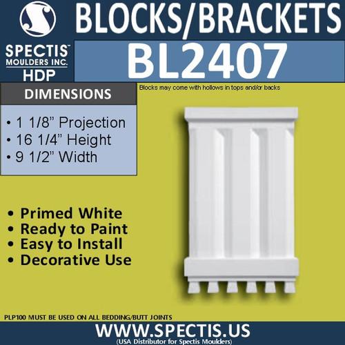 "BL2407 Corbel or Eave Bracket 1 1/8""P x 16 1/4""H x 9 1/2""W"