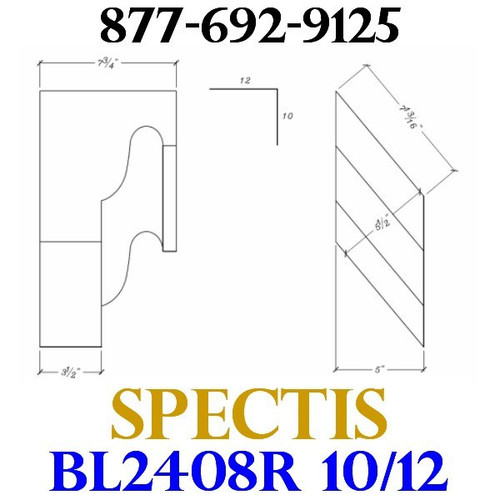 "BL2408R-10/12 Pitch Corbel or Eave Bracket 5""W x 7""H x 7.75"" P"