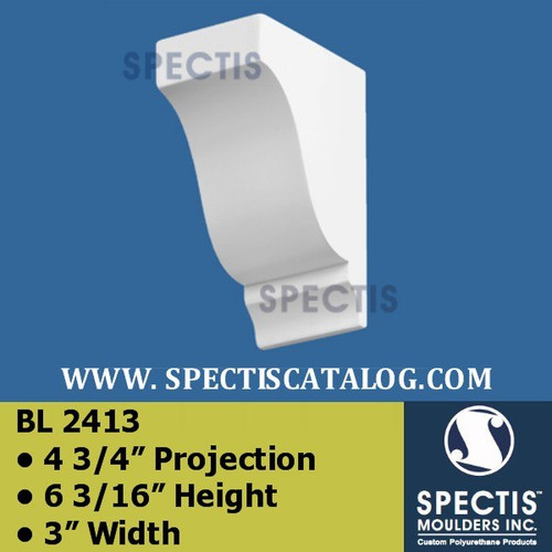 "BL2413 Corbel Block or Eave Bracket 3""W x 6""H x 4.75"" P"