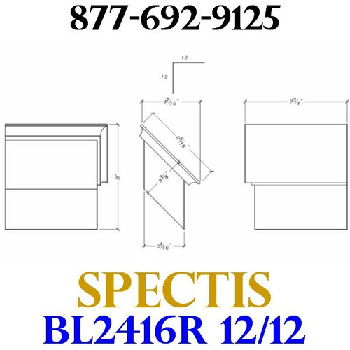 "BL2416R-12/12 Pitch Corbel Block or Bracket 5""W x 4""H x 7"" P"