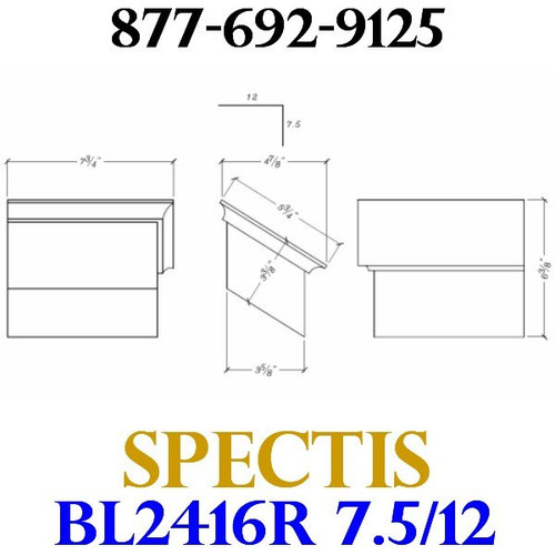 "BL2416R-7.5/12 Pitch Corbel Block or Bracket 5""W x 4""H x 7"" P"