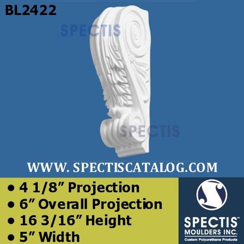 "BL2422 Corbel Block or Eave Bracket 5""W x 16""H x 6"" P"