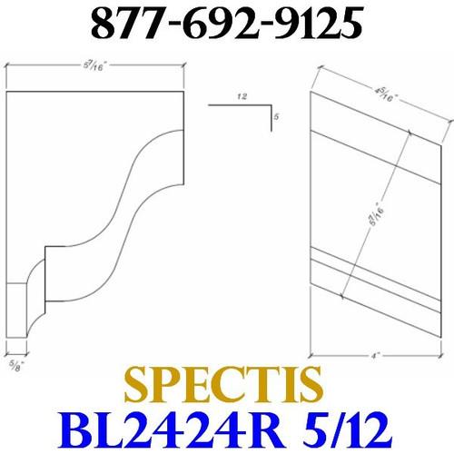 "BL2424R-5/12 Pitch Corbel Block or Bracket 4""W x 6""H x 6"" P"