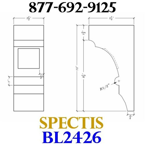 "BL2426 Corbel Block or Eave Bracket 3.5""W x 10""H x 5.25"" P"