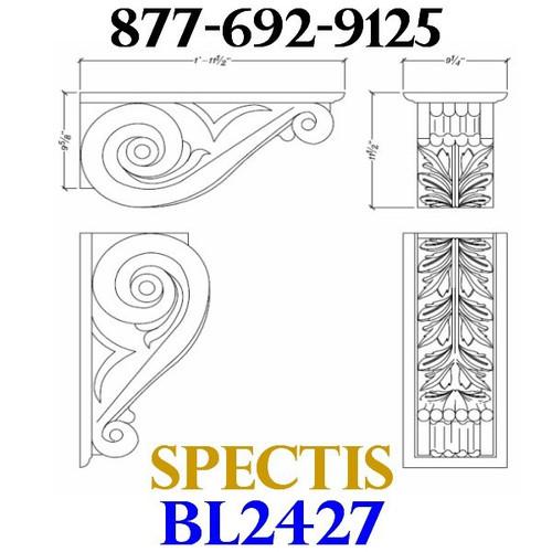 "BL2427 Corbel Block or Eave Bracket 9.25""W x 11.5""H x 23.5"" P"