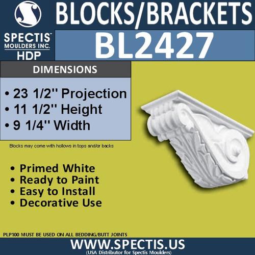 "BL2427 Eave Block or Bracket 9.25""W x 11.5""H x 23.5"" P"