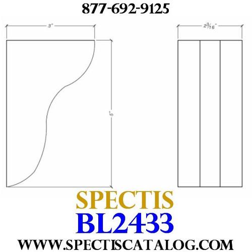 "BL2433 Corbel Block or Eave Bracket 2""W x 5""H x 3"" P"
