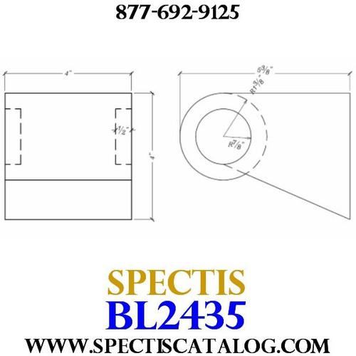 "BL2435 Corbel Block or Eave Bracket 4""W x 4""H x 5.25"" P"