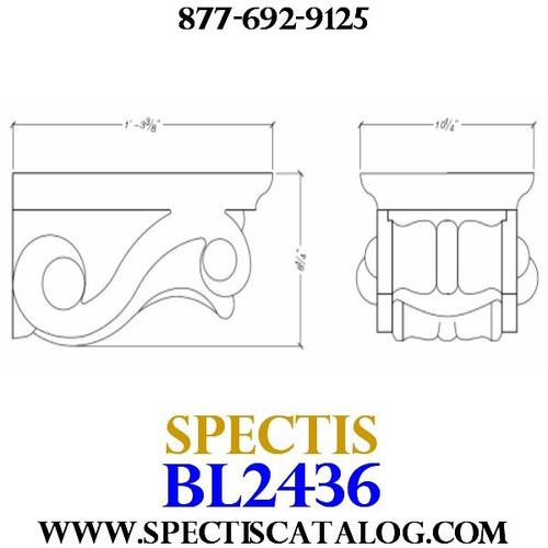 "BL2436 Corbel Block or Eave Bracket 10.25""W x 8""H x 16"" P"