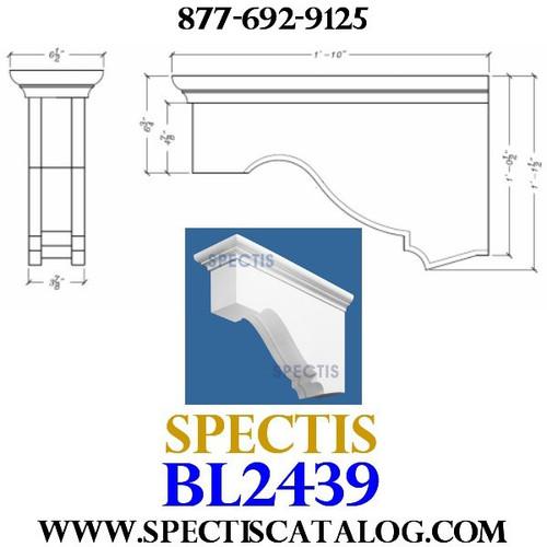 "BL2439 Corbel Block or Eave Bracket 6.5""W x 12.5""H x 22"" P"