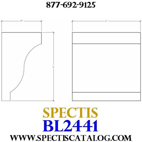 "BL2441 Corbel Block or Eave Bracket 12""W x 12""H x 7"" P"