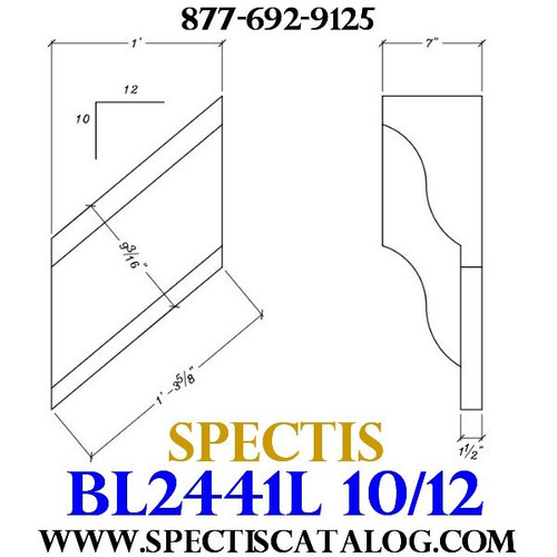 "BL2441L-10/12 Pitch Corbel or Bracket 12""W x 12""H x 7"" P"