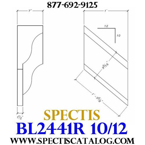 "BL2441R-10/12 Pitch Corbel or Bracket 12""W x 12""H x 7"" P"