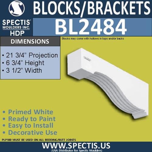 "BL2484 Eave Block or Bracket 3.5""W x 6.75""H x 21.75"" P"