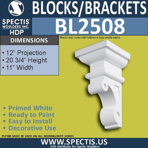 "BL2508 Eave Block or Bracket 11""W x 20.75""H x 12"" P"