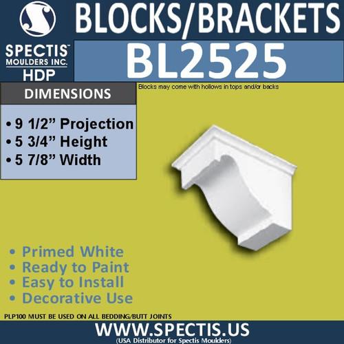 "BL2525 Eave Block or Bracket 6""W x 5.75""H x 9.5"" P"