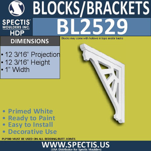 "BL2529 Eave Block or Bracket 1""W x 12""H x 12"" P"