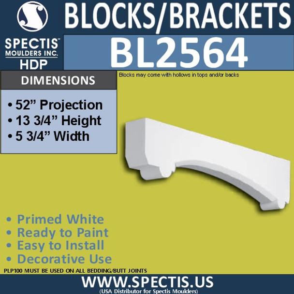 "BL2564 Eave Block or Bracket 5.75""W x 13.75""H x 52"" P"