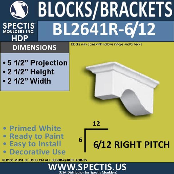 "BL2641R-6/12 Pitch Eave Bracket 2.5""W x 2.5""H x 5.5"" P"