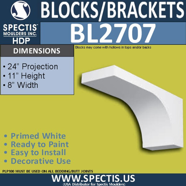 "BL2707 Eave Block or Bracket 6""W x 4""H x 4"" P"