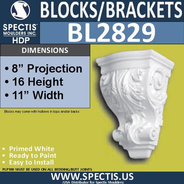 "BL2829 Eave Block or Bracket 11""W x 16""H x 8"" P"