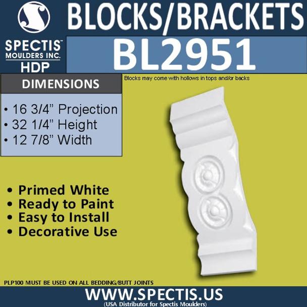 "BL2951 Eave Block or Bracket 13""W x 32""H x 16.75"" P"