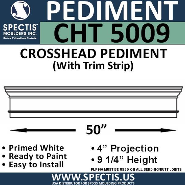 """CHT5009 Crosshead with Trim Strip 50"""" W x 9 1/4"""" H"""