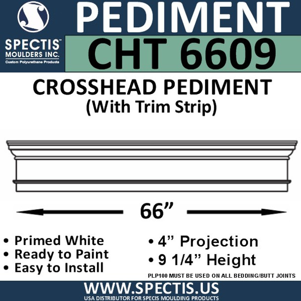 """CHT6609 Crosshead with Trim Strip 66"""" X 9 1/4"""""""