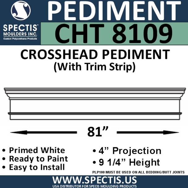 """CHT8109 Crosshead with Trim Strip  81"""" X 9 1/4"""