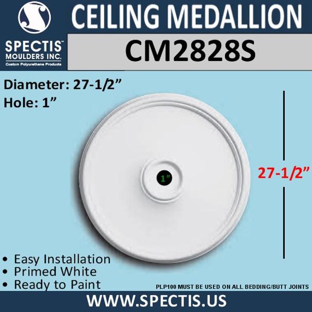 "CM2828S Decorative Ceiling Medallion 1"" Hole x 27.5"" Round"
