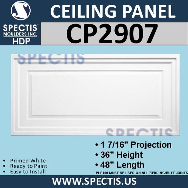 """CP2907 Rectangular Decorative Wall or Ceiling Panel 36"""" X 48"""""""