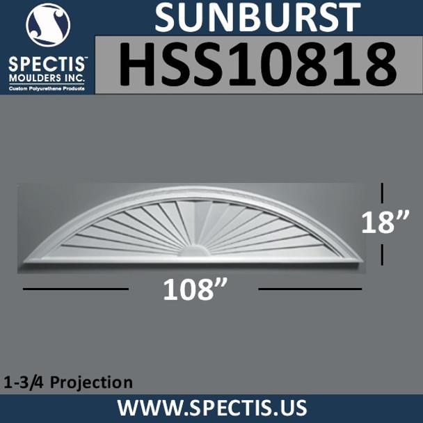 HSS10818 Urethane Sunburst 108 x 18