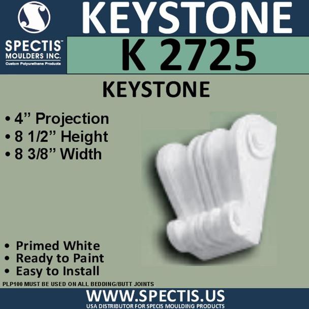 """K2725 Spectis Urethane Keystone 4""""P X 8 1/2""""H X 8 3/8""""W"""
