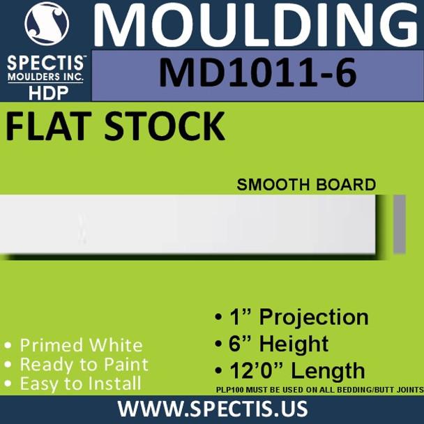 """MD1011-6 Spectis 1"""" Flat Trim 1""""P x 6""""H x 144""""L"""
