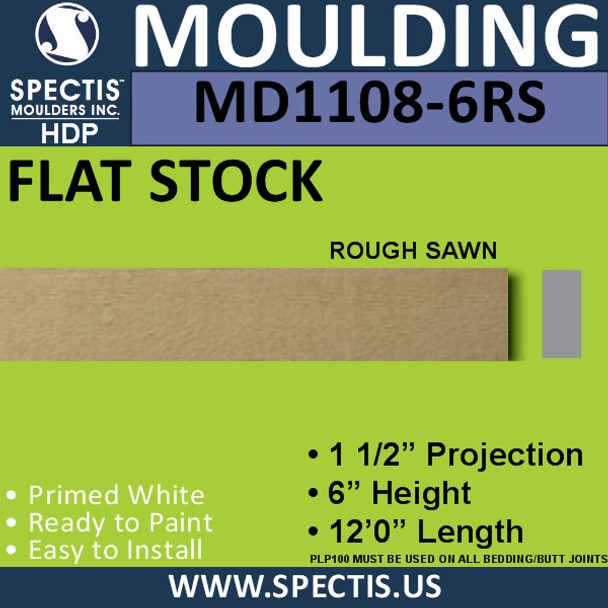 """MD1108-6RS Spectis Rough Sawn 1-1/2"""" Trim 1.5""""P x 6""""H x 144""""L"""
