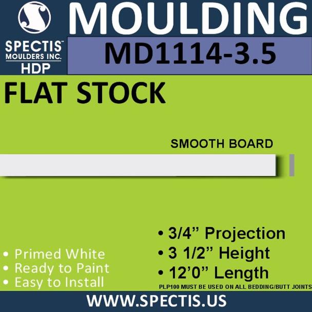"MD1114-3.5 Spectis 3/4"" Flat Stock 3/4""P x 3 1/2""H x 144""L"