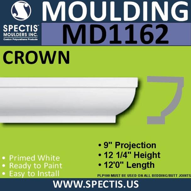 """MD1162 Spectis Crown Molding Trim 9""""P x 12 1/4""""H x 144""""L"""