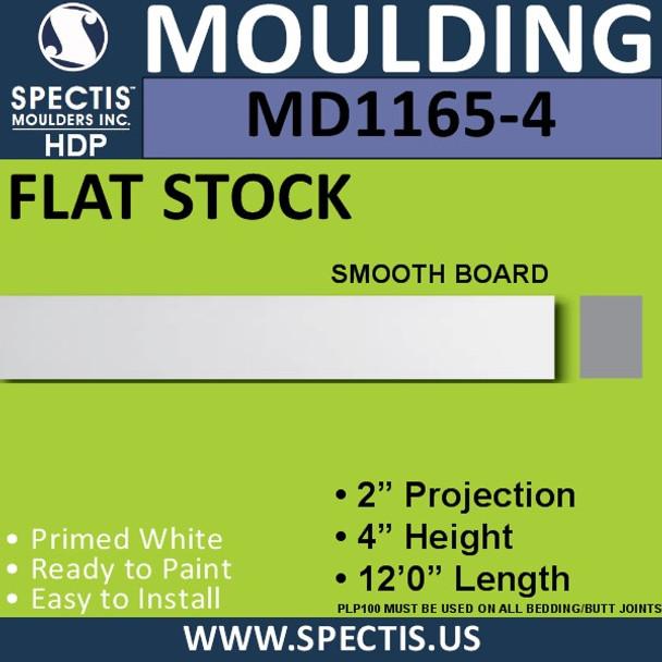 """MD1165-4 Spectis 2"""" Flat Trim 2""""P x 4""""H x 144""""L"""